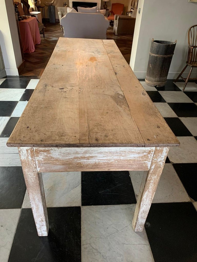 19th Centruy Oak and Poplar Farmhouse Table In Good Condition For Sale In Vosselaar, BE