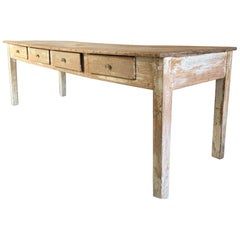19th Centruy Oak and Poplar Farmhouse Table