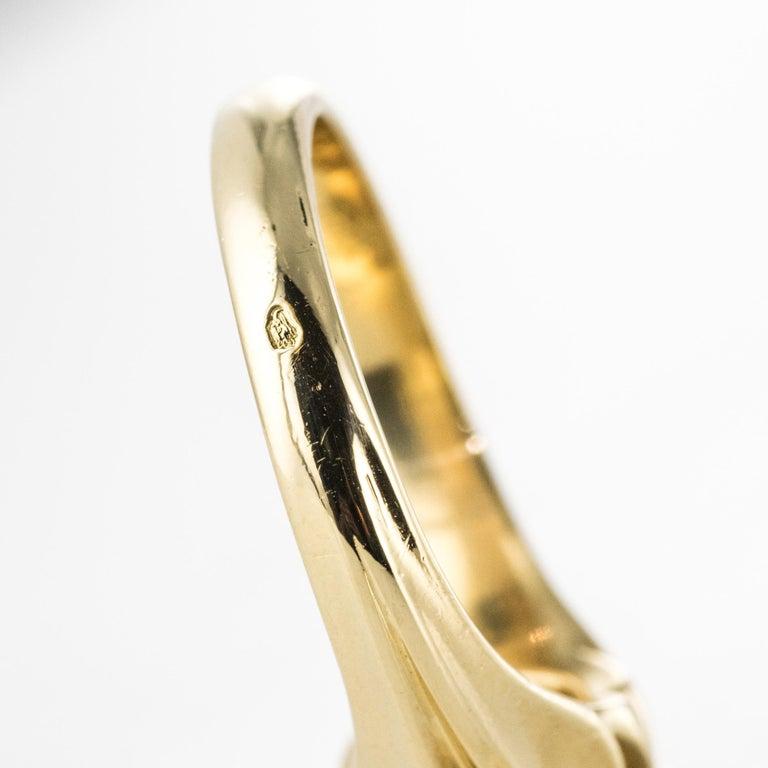 19th Century 0.80 Carat Diamond 18 Karat Yellow Gold Bangle Ring For Sale 9