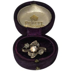 19th Century 18-Karat Gold Rose Cut Diamond Ring
