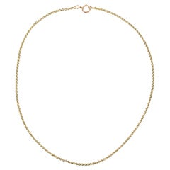 19th Century 18 Karat Yellow Gold Chain Necklace