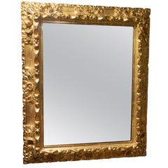19th Century 24k Gold Leaf French Mirror