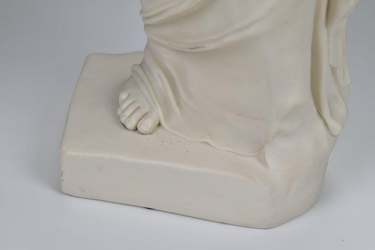 19th Century 28 Inch Parian Porcelain Statue Venus de Milo Greek Goddess of Love For Sale 1