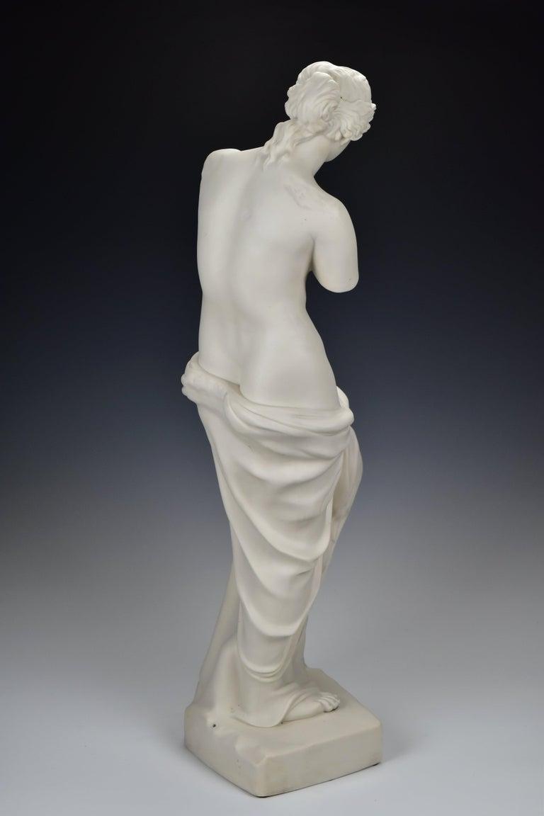 19th Century 28 Inch Parian Porcelain Statue Venus de Milo Greek Goddess of Love For Sale 3