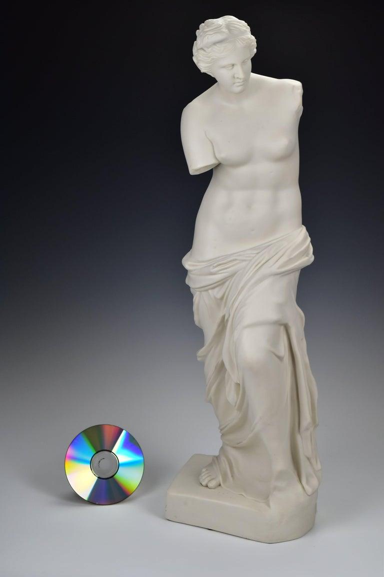 19th Century 28 Inch Parian Porcelain Statue Venus de Milo Greek Goddess of Love For Sale 4