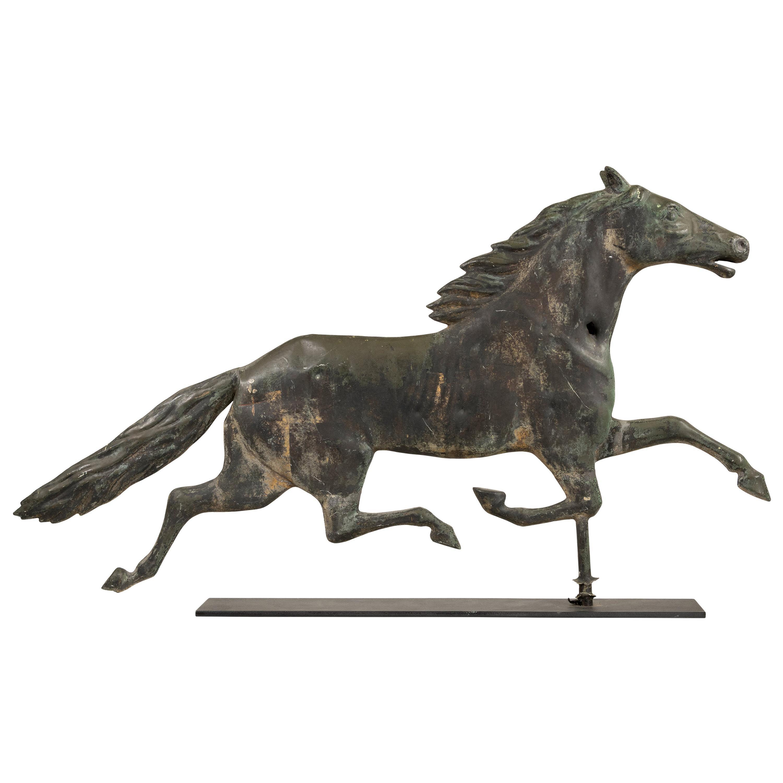 19th Century 3 Dimensional Copper Horse Weather Vane