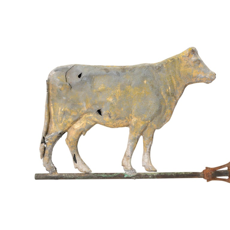 American 19th Century 3 Dimensional Cow Weather Vane For Sale