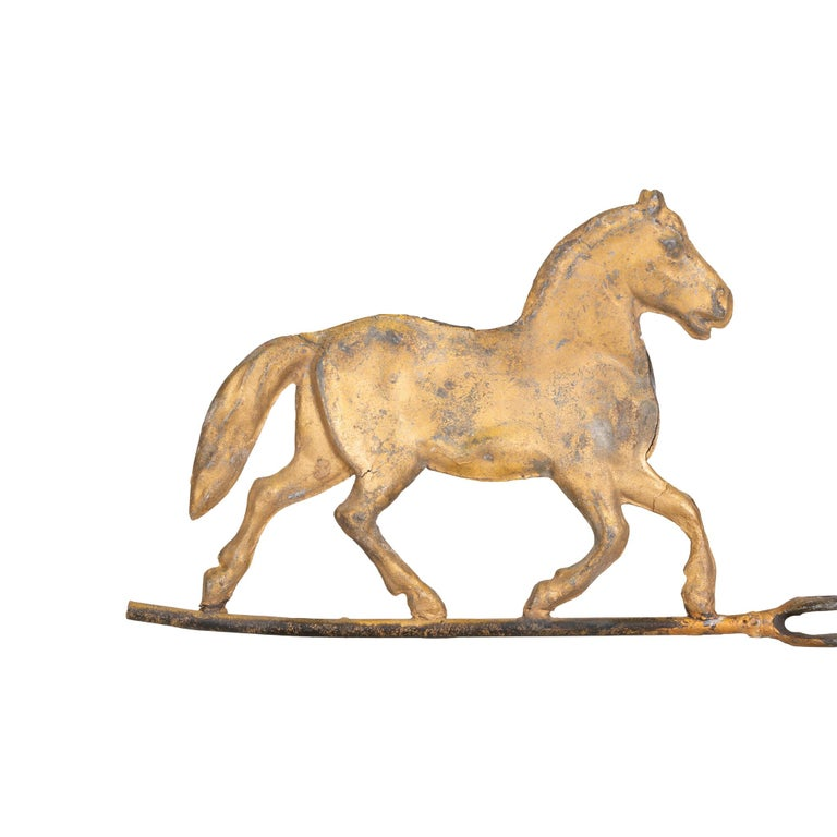 American 19th Century 3 Dimensional Trotting Horse Weather Vane For Sale