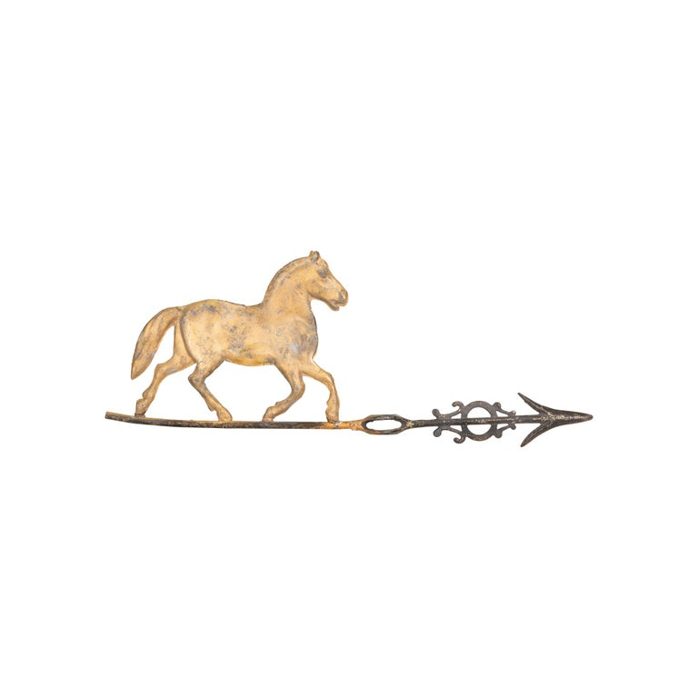 19th Century 3 Dimensional Trotting Horse Weather Vane In Good Condition For Sale In Coeur d'Alene, ID