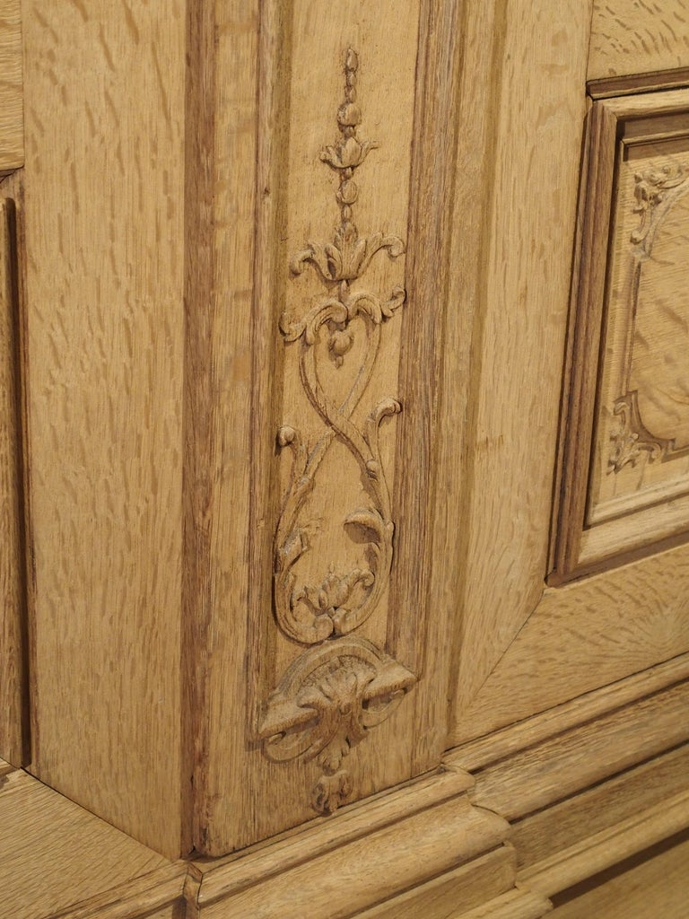 19th Century 3-Door French Oak Sacristy Cabinet in the Regence Style For Sale 6