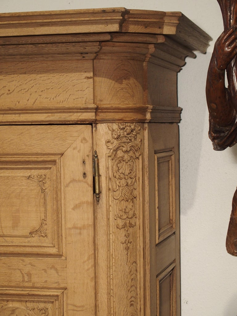 19th Century 3-Door French Oak Sacristy Cabinet in the Regence Style For Sale 12