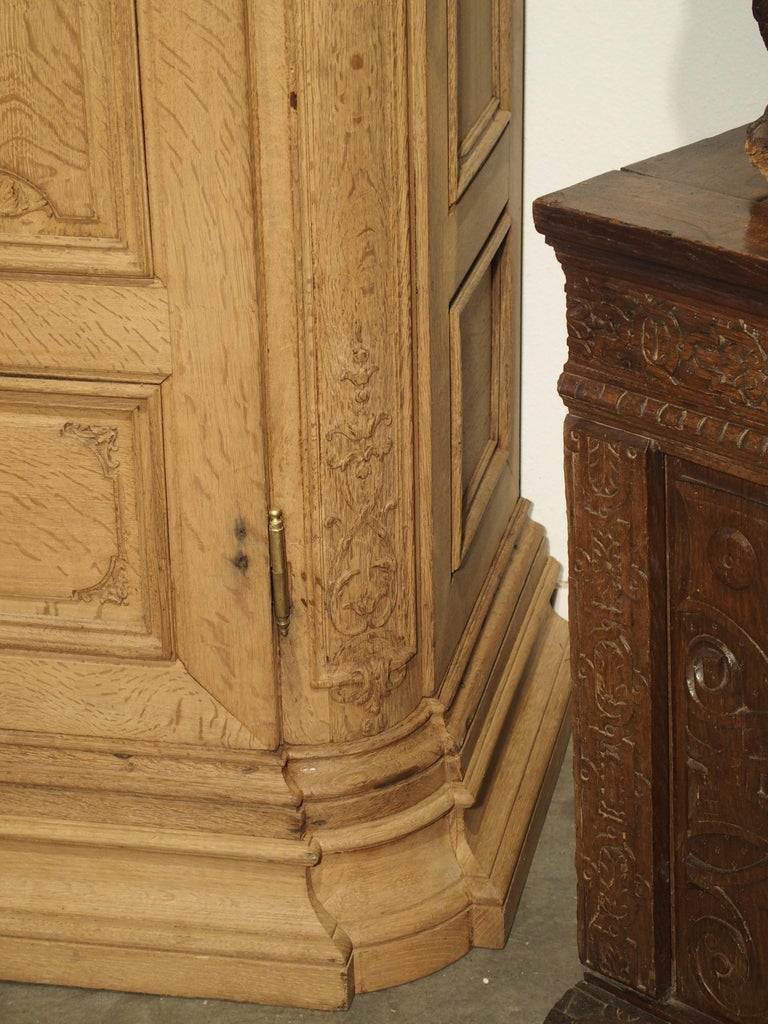 19th Century 3-Door French Oak Sacristy Cabinet in the Regence Style For Sale 13