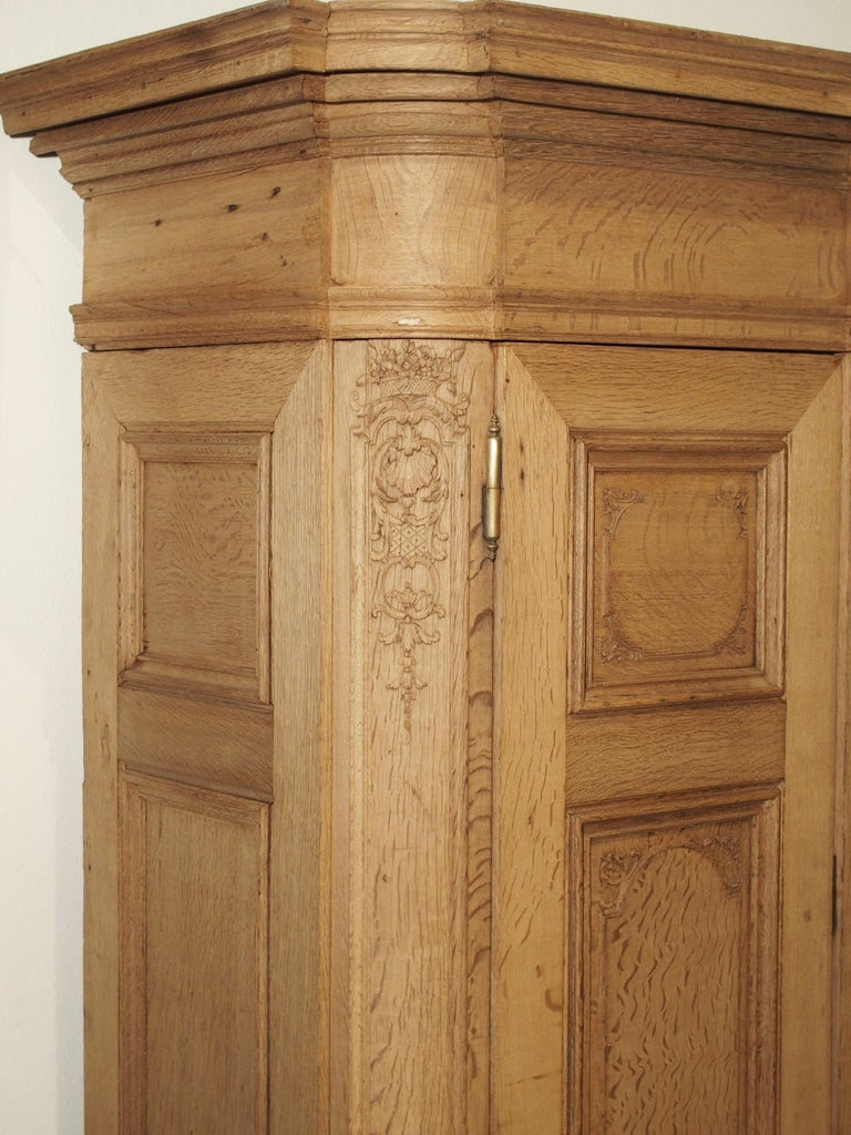 19th Century 3-Door French Oak Sacristy Cabinet in the Regence Style For Sale 2