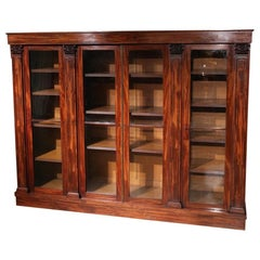 19th Century 4 Door William IV Mahogany Bookcase