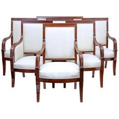 19th Century 7-Piece French Empire Mahogany Salon Suite