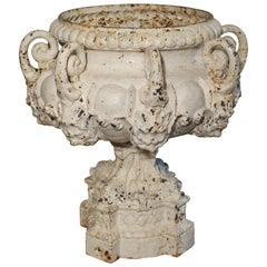 19th Century 8-Spout Painted Cast Iron Fountain Element from France