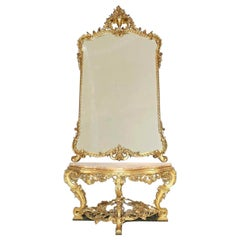 19th Century a Italian Console and Mirror, 1830