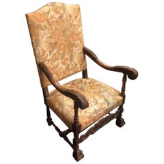 19th Century a Large 18th Century Armchair, Original Tapestry