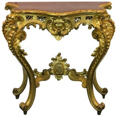 19th Century a Mid-19th Century Louis XV Style Console