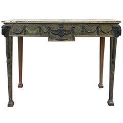 19th Century Adam Style Scagliola Console Table