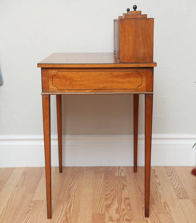 19th Century Adams Style Small Writing Desk For 4