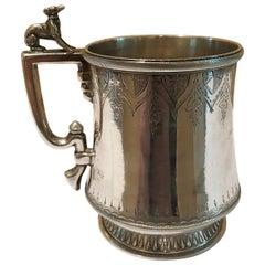 19th Century Adolphe Himmel Coin Silver Mug
