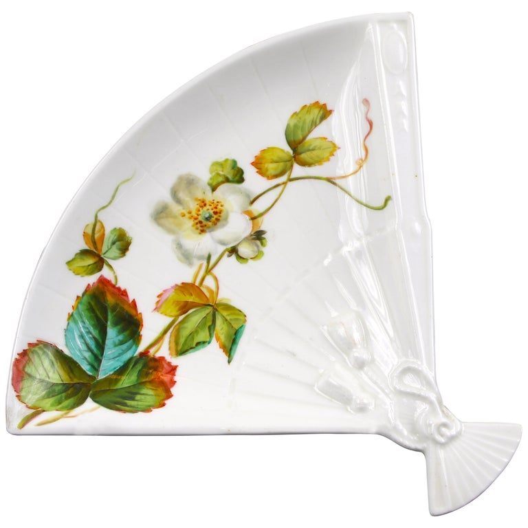 19th Century Aesthetic Movement Fan Shaped Plates For Sale
