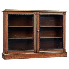 19th Century Aesthetic Movement Walnut and Mahogany Bookcase