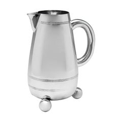 19th Century Aesthetic Period Victorian Sterling Silver Water Jug
