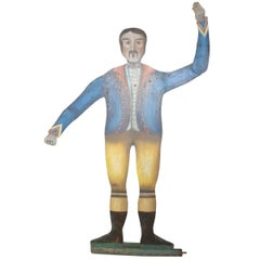19th Century Agile Painted Wooden Figure