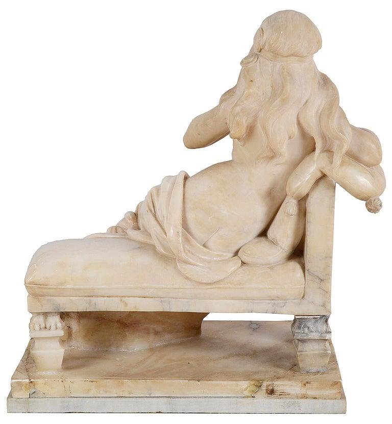 French 19th Century Alabaster Arab Girl, 22.5