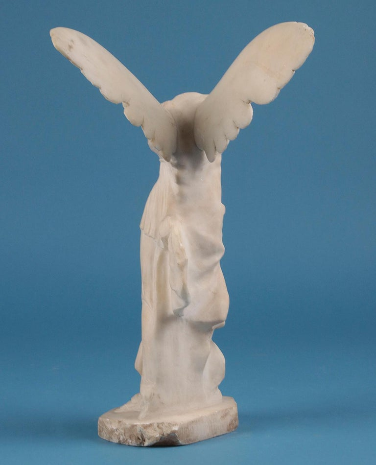 19th Century Alabaster Marble Statue Winged Victory of Nike Samothrace 7