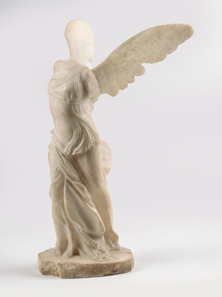Hand carved antique marble statue of the Greek goddess