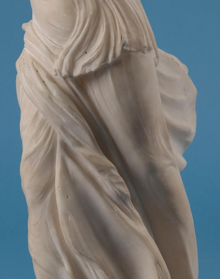 19th Century Alabaster Marble Statue Winged Victory of Nike Samothrace 2