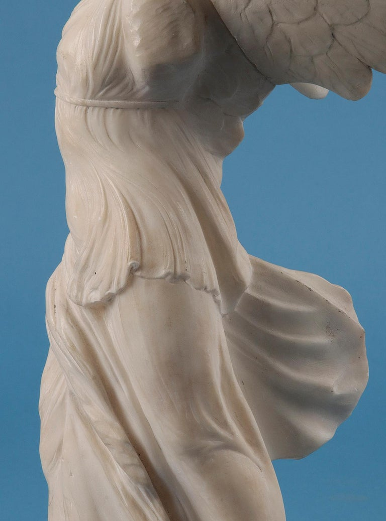 19th Century Alabaster Marble Statue Winged Victory of Nike Samothrace 3