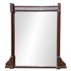 19th Century Amboyna Aesthetic Movement Overmantel Mirror