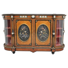 19th Century Amboyna and Ebonized Exhibition Quality Credenza
