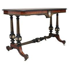 19th Century Amboyna and Ebonised Sofa Table