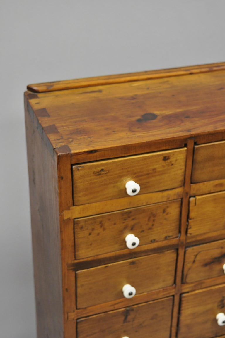 19th Century American 26 Drawer Dovetailed Pine Wood