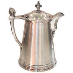 19th Century American Antique Silver Plate Pitcher by Stimpson
