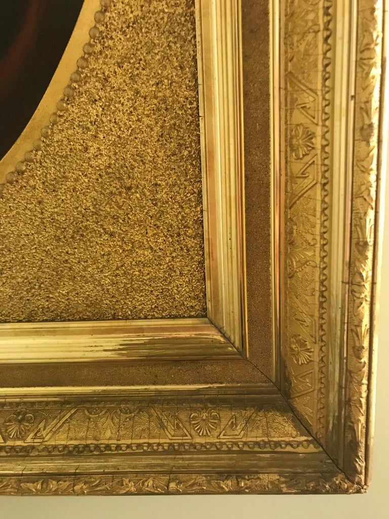 Original artwork in gilded frame.