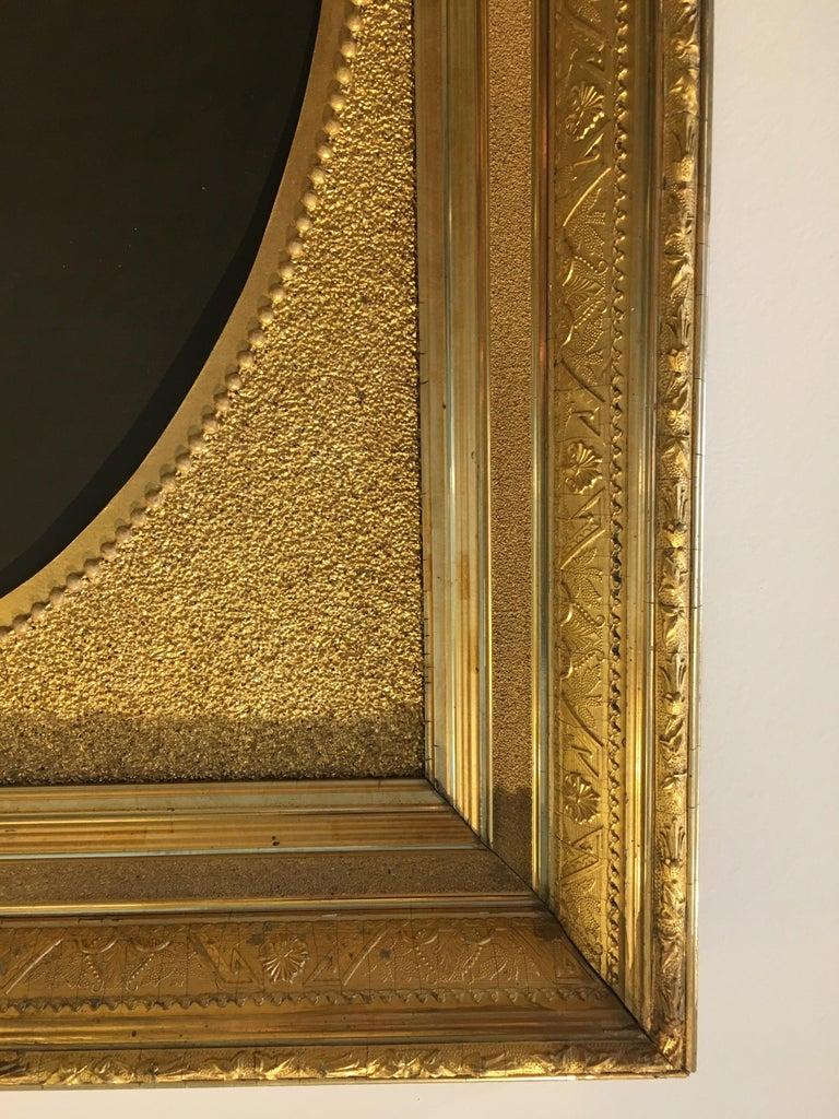 Original artwork in gilded frame.