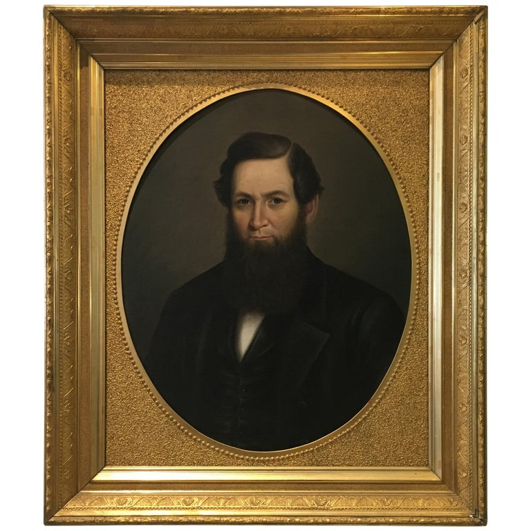 19th Century American Artwork in Gilded Frame For Sale