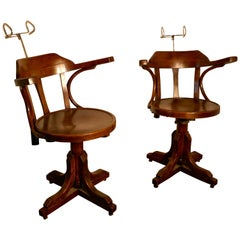 19th Century American Bentwood Barbers' Chairs