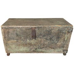 19th Century American Box on Castors