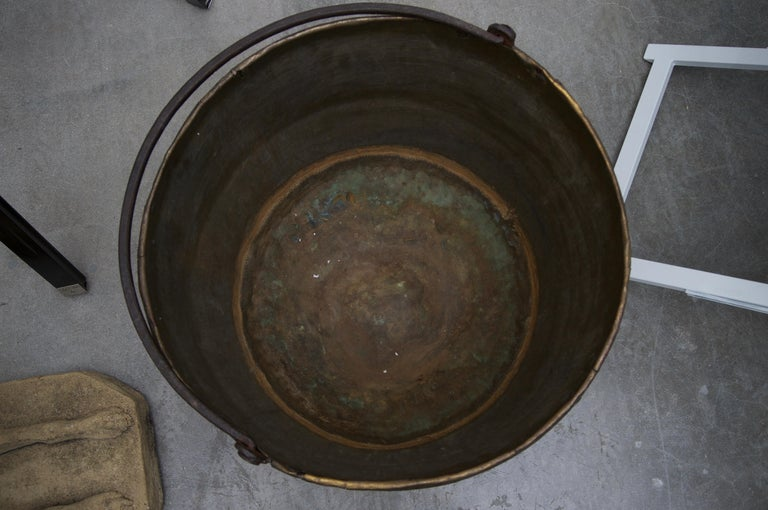 19th Century American Brass Caldron For Sale 1