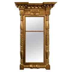 19th Century American Carved Giltwood Mirror