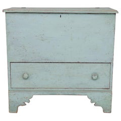 19th Century American Chest in Pale Blue