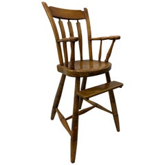 19th Century American Child's High Chair