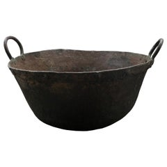 19th Century American Copper Cook Pot with Handles